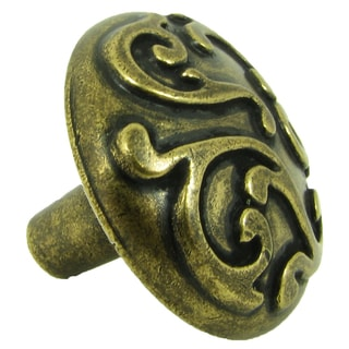 Stone Mill Hardware 'Ivy' Brushed Antique Brass Cabinet Knobs (Pack of 5)