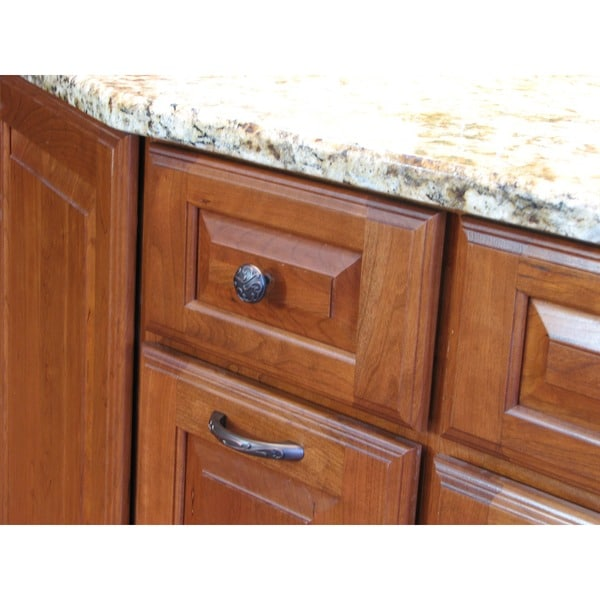 Stone Mill Hardware U0027Ivyu0027 Oil Rubbed Bronze Cabinet Knobs (Pack Of 5)    Free Shipping On Orders Over $45   Overstock.com   14031042