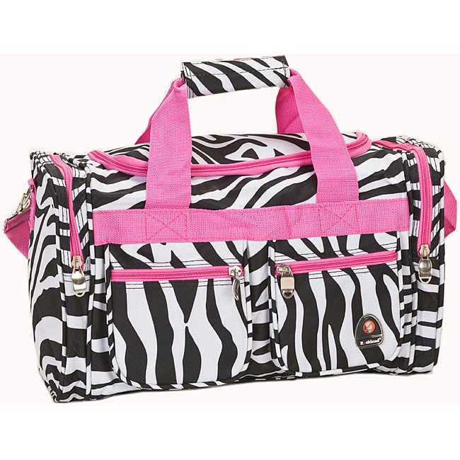 804acf9ead59 Rockland Deluxe Pink Zebra 19-inch Carry-On Tote/Duffel Bag
