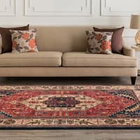 Hand-tufted Mitchell Semi-worsted New Zealand Wool Area Rug - 5' x 8'