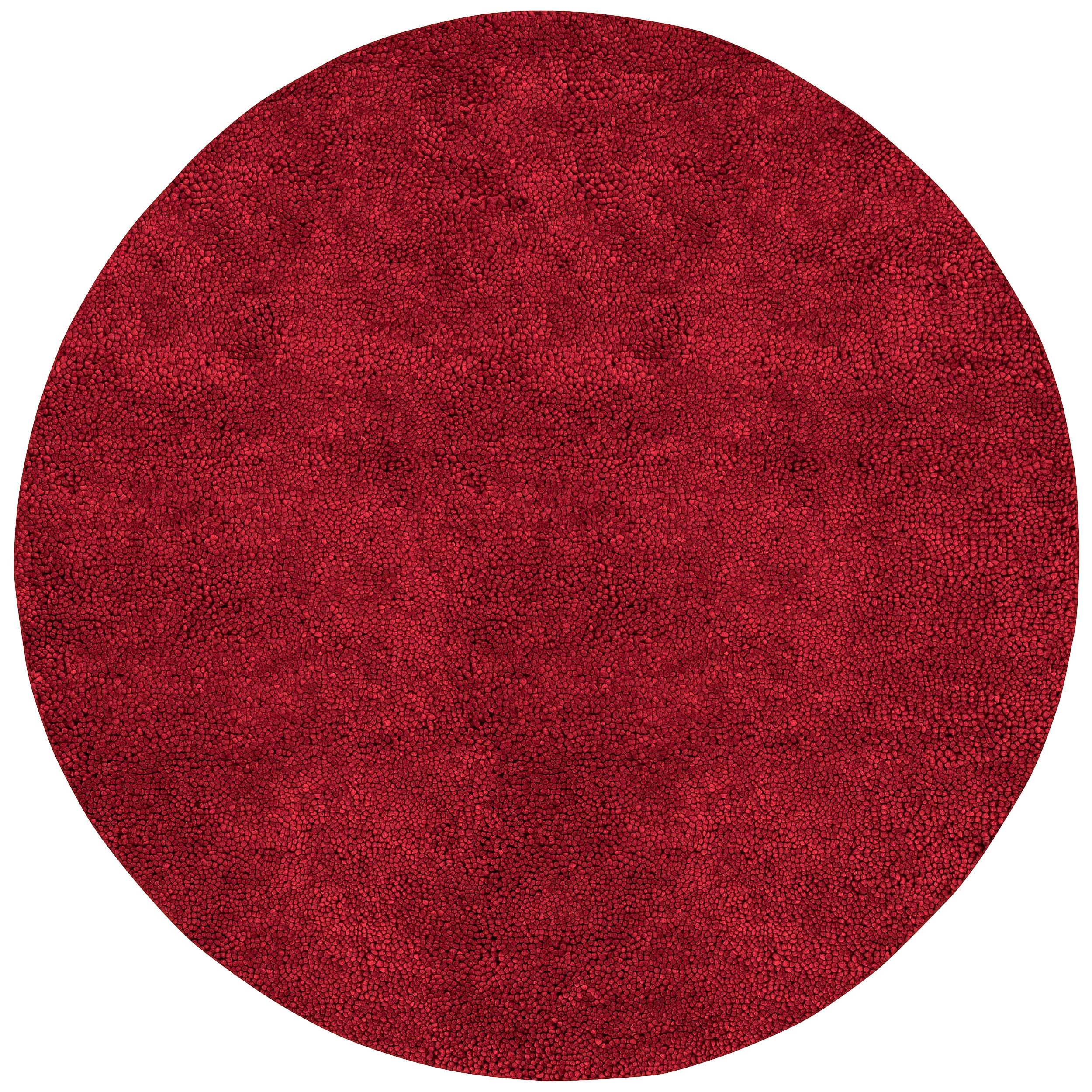 Hand-woven Huron Colorful Plush Shag New Zealand Felted Shag Wool Rug (10' Round)