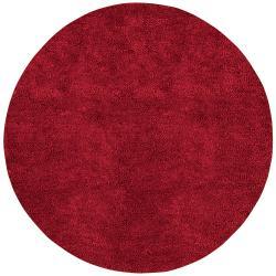 Hand-woven Huron Colorful Plush Shag New Zealand Felted Shag Wool Area Rug - 10' x 10'