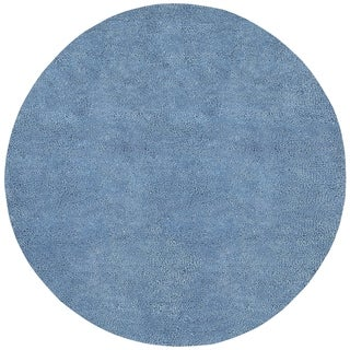 Hand-woven Spearfish Colorful Plush Shag New Zealand Felted Shag Wool Area Rug - 10' Round