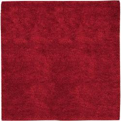 Hand-woven Huron Colorful Plush Shag New Zealand Felted Shag Wool Area Rug - 8' x 8'