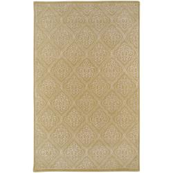 Hand-tufted Chamberlain Contemporary Geometric Wool Area Rug - 5' x 8' - Thumbnail 0