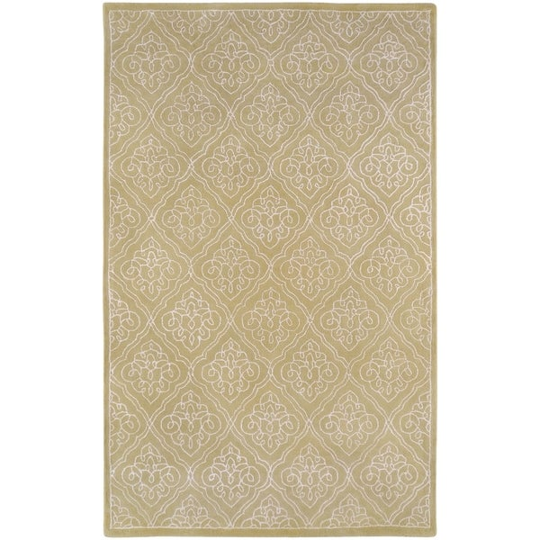 Hand-tufted Chamberlain Contemporary Geometric Wool Area Rug - 5' x 8'