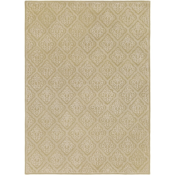 Hand-tufted Chamberlain Contemporary Geometric Wool Area Rug - 8' x 11'