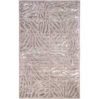 Hand-tufted Beige Zebra Animal Print Redfield Wool Area Rug - 9' x 13'