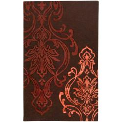 Hand-tufted Custer Damask Pattern Wool Rug (9' x 13')