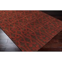 Hand-knotted Springfield Wool Area Rug - 5' x 8'