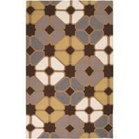 Hand-woven Groton Wool Area Rug (5' x 8')