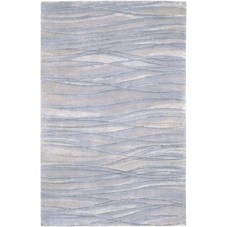 Hand-knotted Edgemont Abstract Design Wool Area Rug - 4' x 6'
