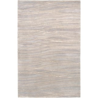 Hand-knotted Estelline Abstract Design Wool Area Rug - 5' x 8'