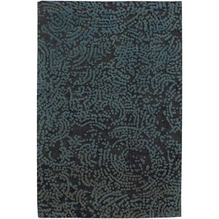 Hand-knotted Elkton Abstract Design Wool Area Rug - 4' x 6'