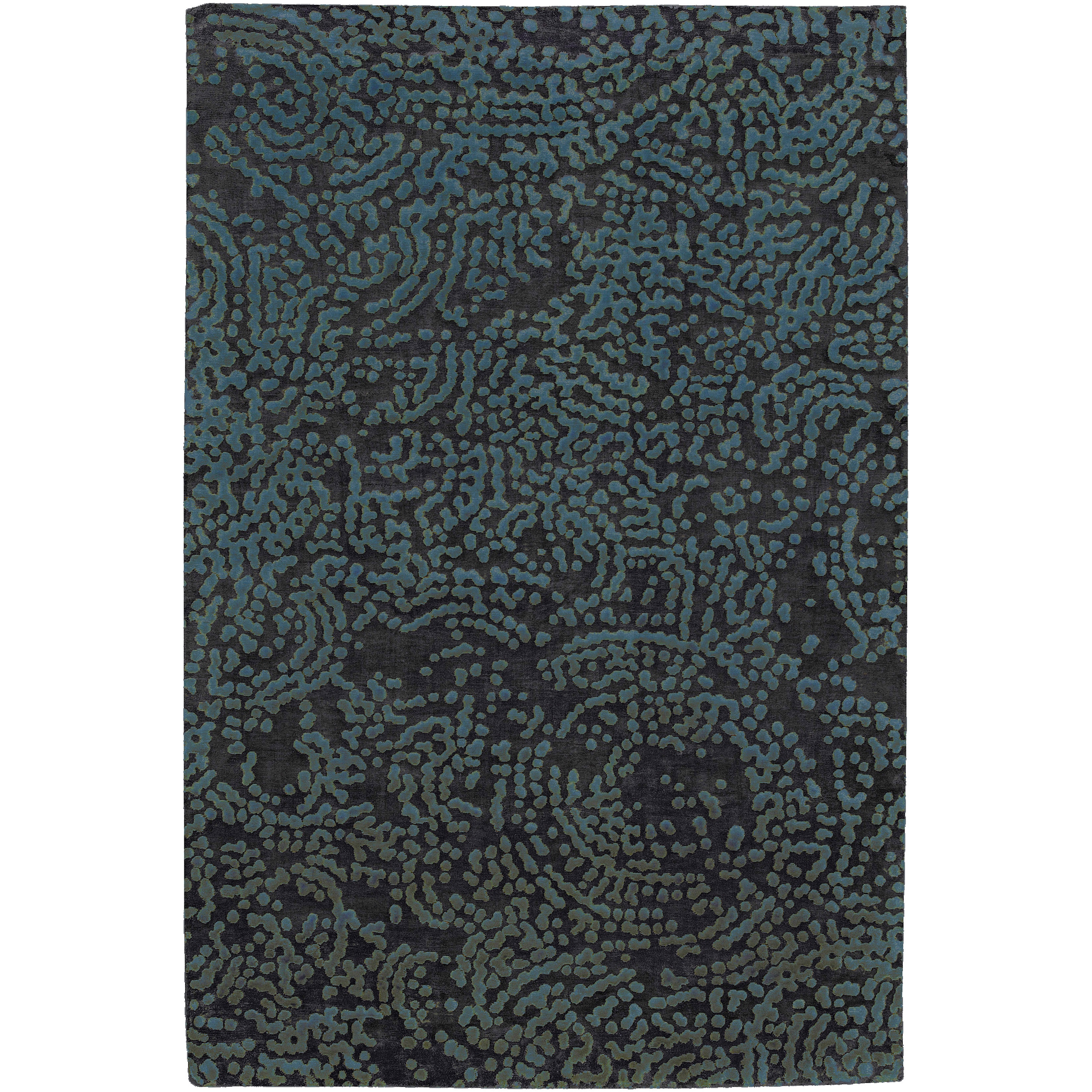 Hand-knotted Elkton Abstract Design Wool Rug (5' x 8'), B...