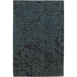 Hand-knotted Elkton Abstract Design Wool Area Rug - 5' x 8' - Thumbnail 0