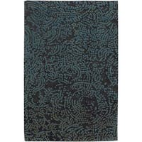 Hand-knotted Elkton Abstract Design Wool Area Rug - 5' x 8'