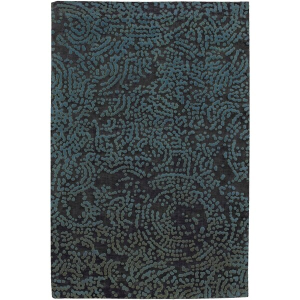 Hand-knotted Elkton Abstract Design Wool Area Rug - 9' x 13'