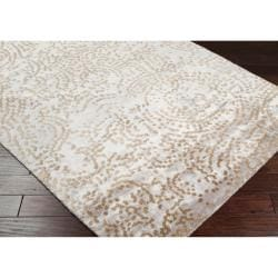 Hand-knotted Faulkton Abstract Design Wool Rug (5' x 8') - Thumbnail 2