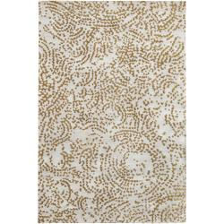 Hand-knotted Faulkton Abstract Design Wool Rug (5' x 8')