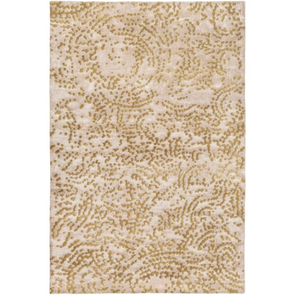 Hand-knotted Faulkton Abstract Design Wool Area Rug - 5' x 8'