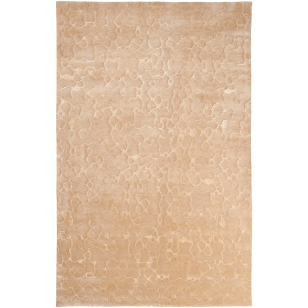 Hand-knotted Kimball Abstract Design Wool Area Rug - 5' x 8'