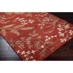 Hand-knotted Kadoka Semi-worsted New Zealand Wool Rug (8' x 11') - Thumbnail 2