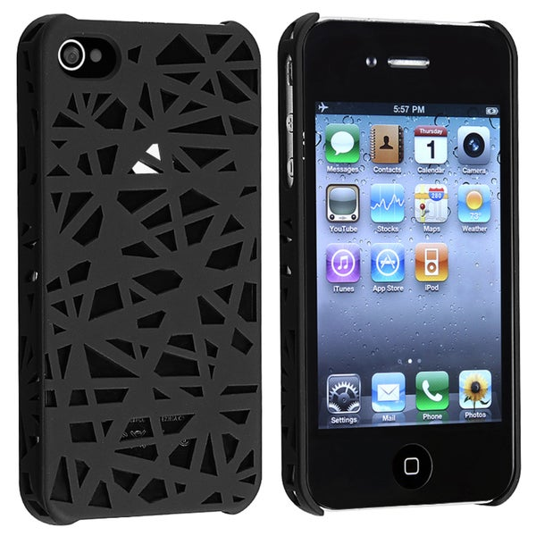 Black Bird Nest Rear Snap-on Case for Apple iPhone 4/ 4S