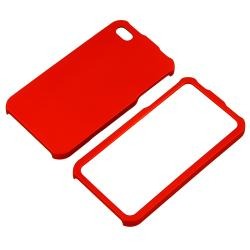Red Snap-on Rubber Coated Case for Apple iPhone 4/ 4S