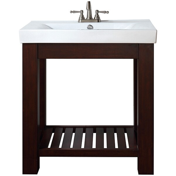 Shop avanity lexi 30 inch single vanity in light espresso - 30 inch single sink bathroom vanity ...
