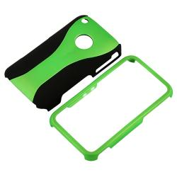 Green/ Black Case/ LCD Protector/ FM Transmitter for Apple iPhone 3GS