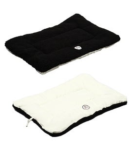 Pet Life 'Eco-Paw' Dual Sided Reversible Black/ White Pet Bed
