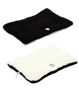 Pet Life 'Eco-Paw' Dual Sided Reversible Black/ White Pet Bed - Black