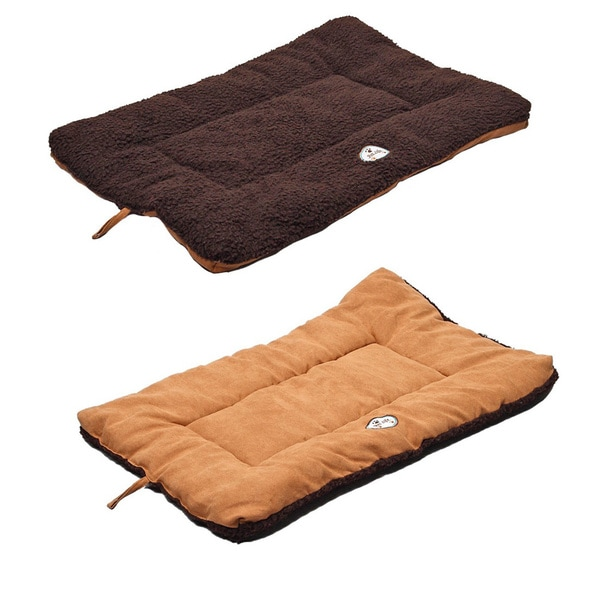 Pet Life Eco Paw Reversible Brown / Cocoa Pet Bed