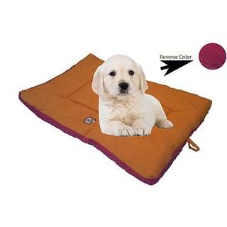 Pet Life 'Eco-Paw' Dual Sided Reversible Pink/ Orange Pet Bed