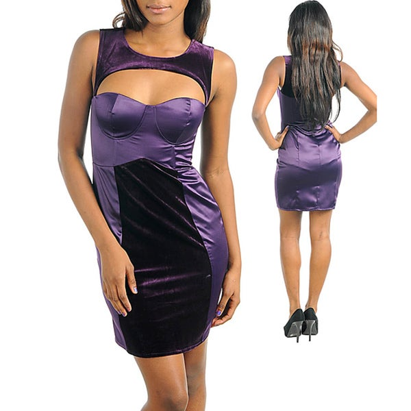 Stanzino Women's Two tone Purple Dress