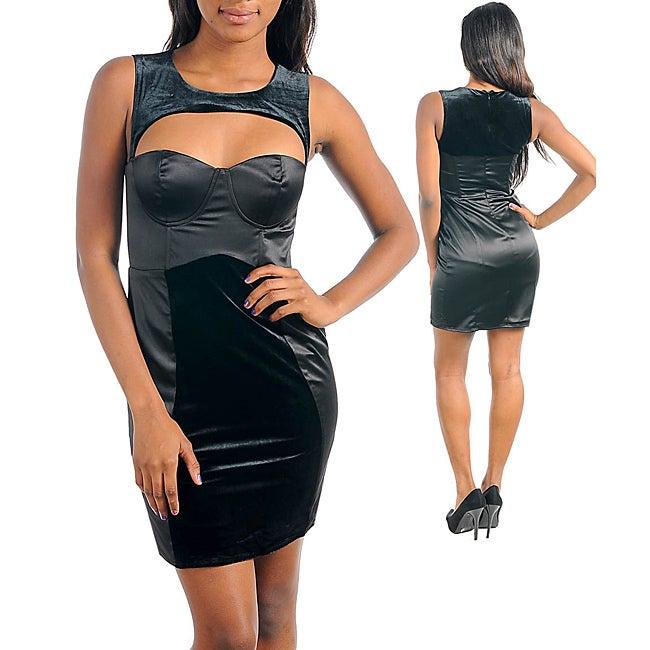 Stanzino Women's Two-Tone Black Dress