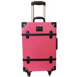 Amerileather 'Pink Vintage' 23-inch Spinner Trunk Upright Suitcase ...