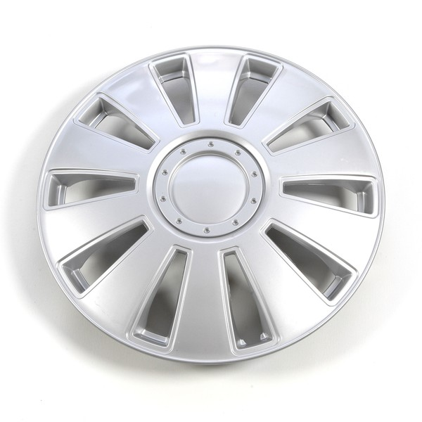 Silver 14-Inch ABS Clip-Onto Hub Caps (Set of Four)