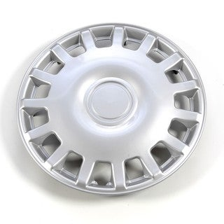 Silver 15-Inch ABS Plastic Hub Caps (Set of Four)