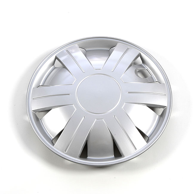 Silver 14-Inch ABS Plastic Hub Caps (Set of Four)