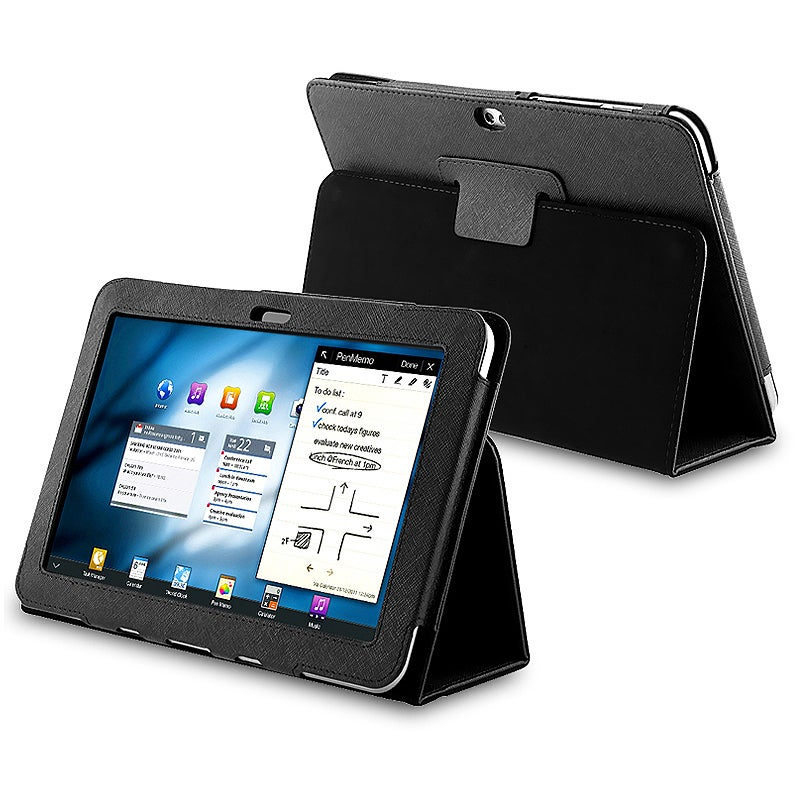 Black Leather Case for Samsung Galaxy Tab 8.9-inch