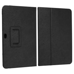 Black Leather Case for Samsung Galaxy Tab 8.9-inch - Thumbnail 1