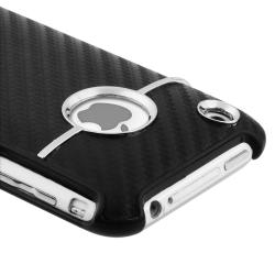 INSTEN Black Carbon Chrome Snap-on Phone Case Cover for Apple iPhone 3G/ 3GS - Thumbnail 1