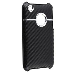 INSTEN Black Carbon Chrome Snap-on Phone Case Cover for Apple iPhone 3G/ 3GS - Thumbnail 2