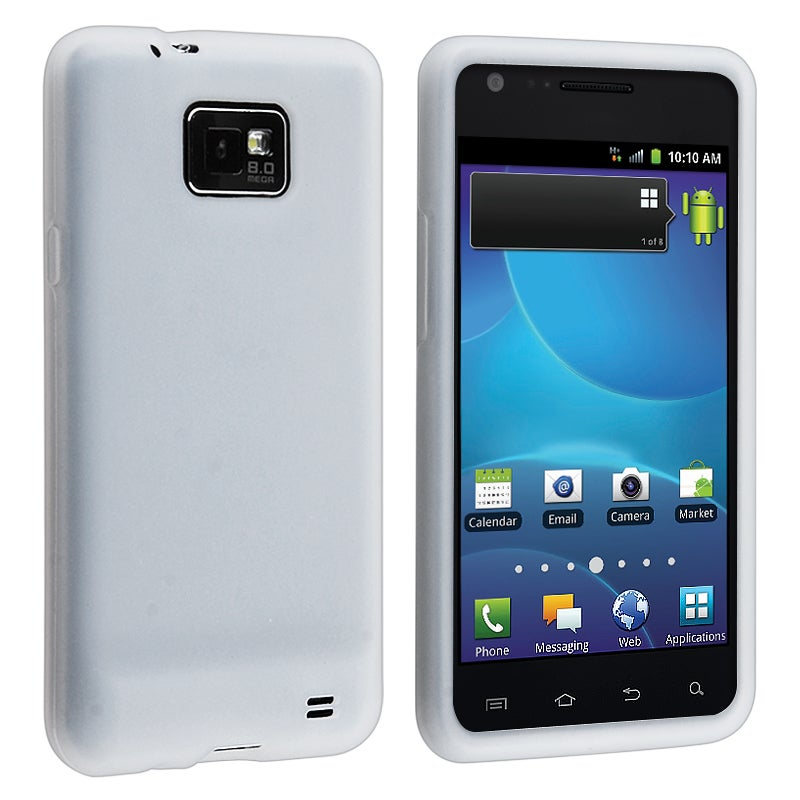 White Silicone Skin Case for Samsung Galaxy S2 AT&T i777