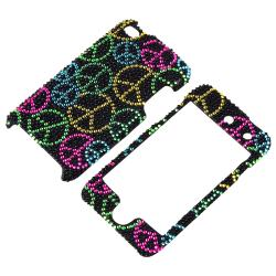 INSTEN Black Bling Peace Sign Snap-on iPod Case Cover for Apple iPod Touch 4th Gen - Thumbnail 2