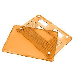 INSTEN Clear Orange Snap-on Laptop Case Cover for Apple MacBook Pro
