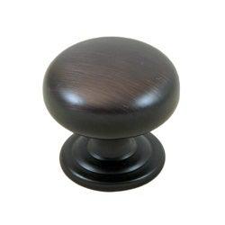 GlideRite 15 inch Oil Rubbed Bronze Round Ring Mushroom Cabinet