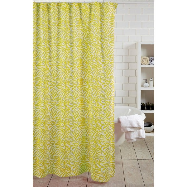 Yellow Zebra Shower Curtain